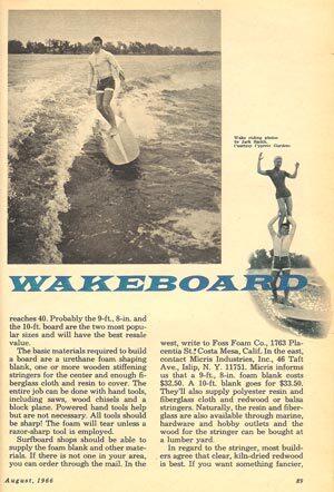 Wakeboard History